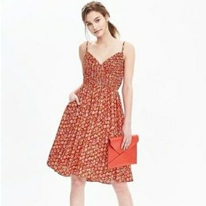 Banana Republic Strappy Red Crossover Vee Dress 4